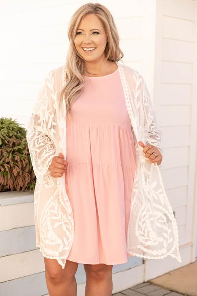 top, kimono, white, lace, long sleeve