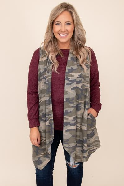 Don't Sweat It Vest, Olive Camo