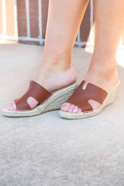 shoes, espadrilles, brown, solid, wedges