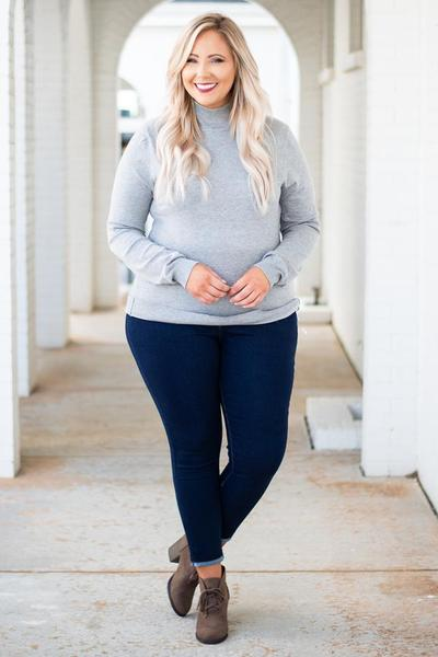 Simple Favor Sweater + All Laced Up Booties