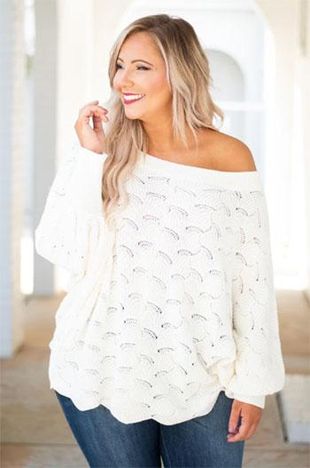 angel in you ivory sweater