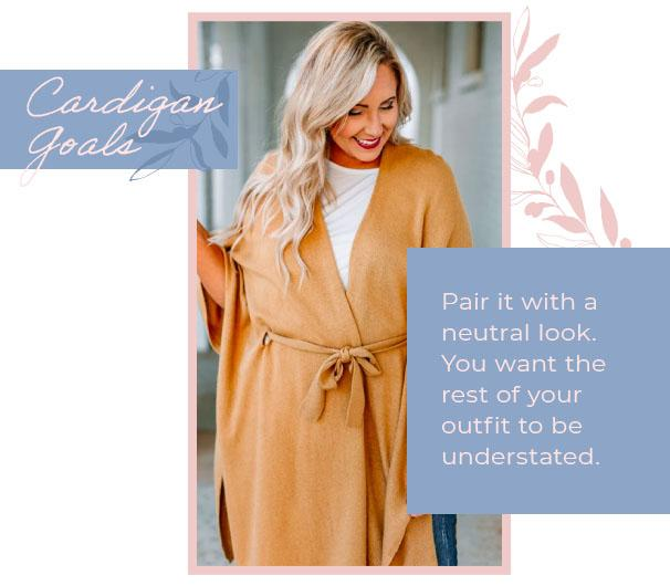 cardigan goals neutral look graphic