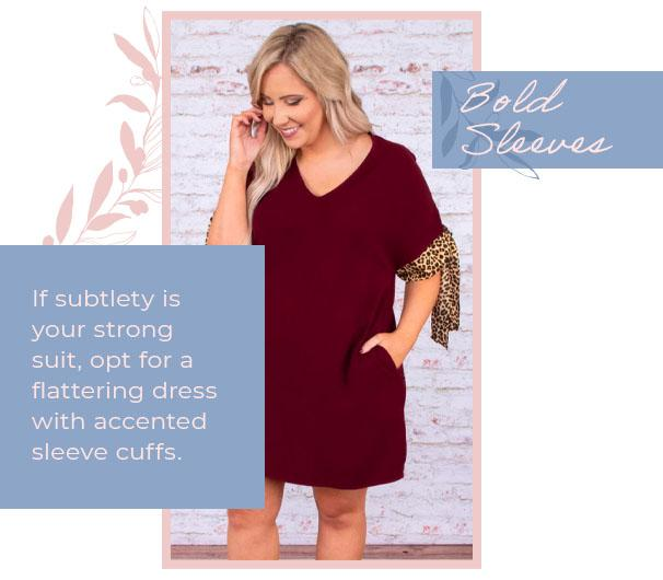 dress with accented sleeves graphic