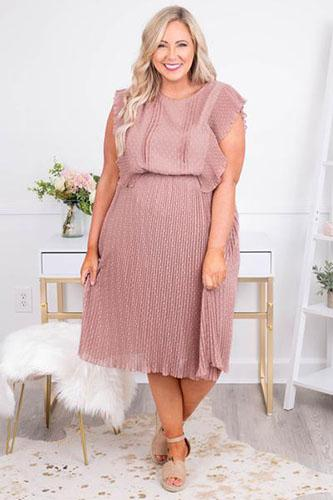For The Sake of Love Dress, Mauve
