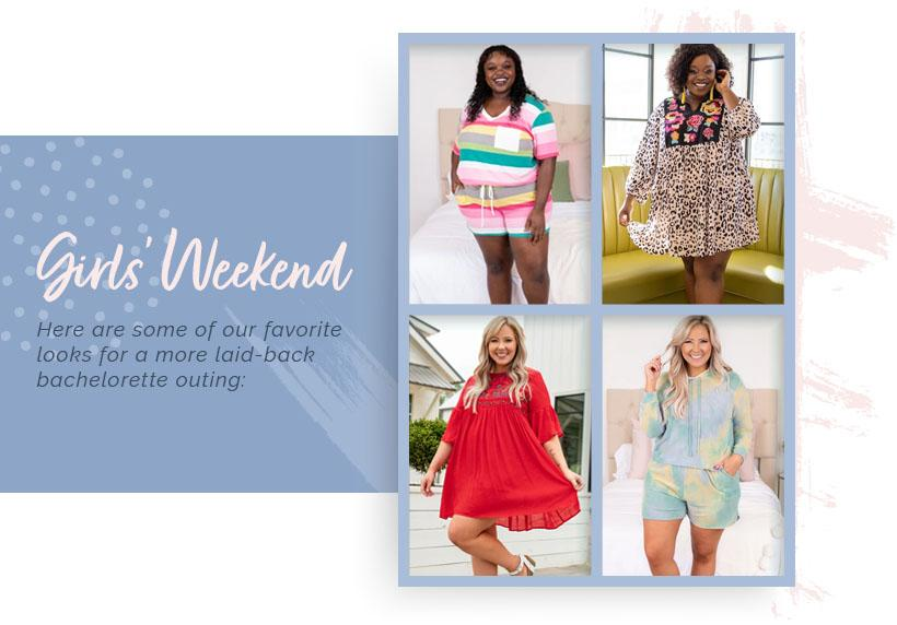 girls-weekend looks modeled by full-figured women