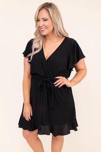 hold the flames dress black