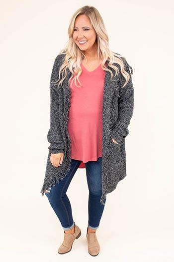 leave it in the past charcoal cardigan