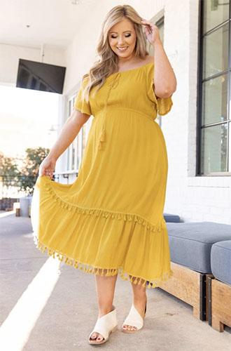 no apologies dress mustard