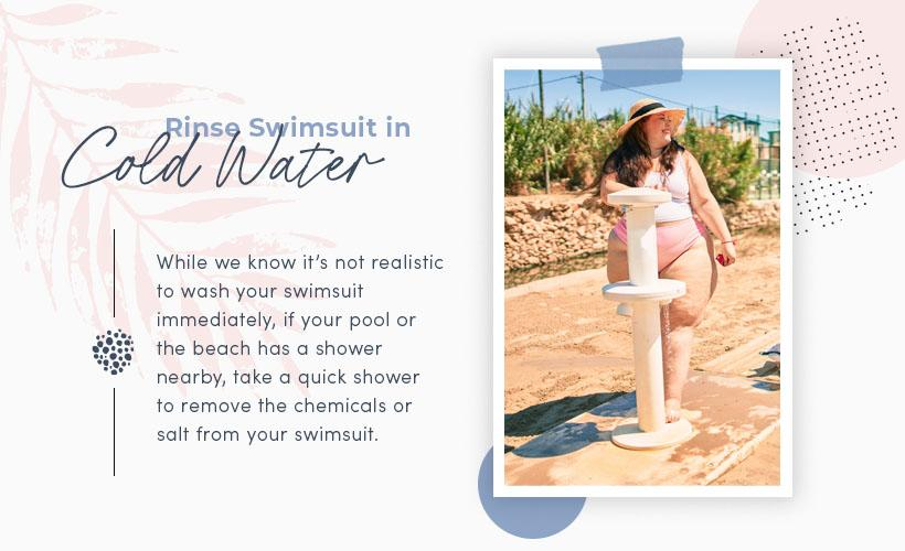rinse swimsuit in cold water