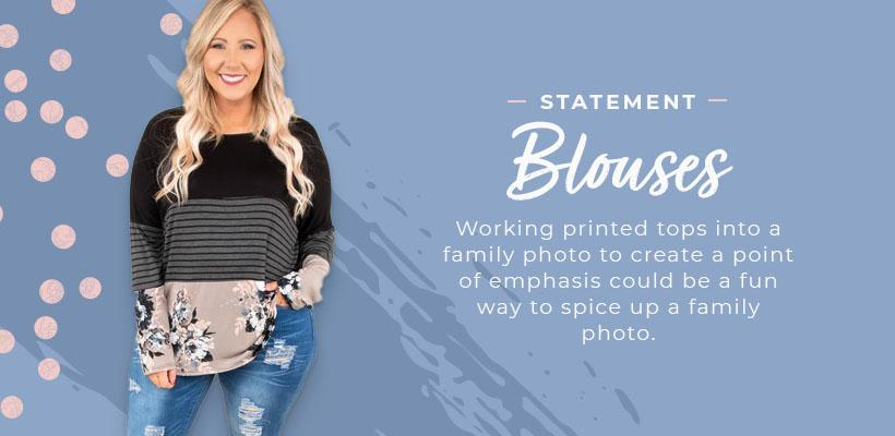 statement blouses family photo graphic