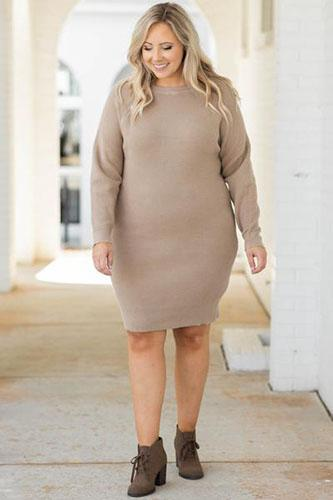 Story Ends Here Dress, Taupe