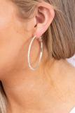 accessory, closed hoop, earrings, silver, pewter, crystal, stone