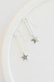 accessory, earrings, dangle, silver, pewter, star