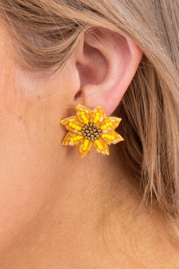 Sweet Perfection Earrings, Yellow