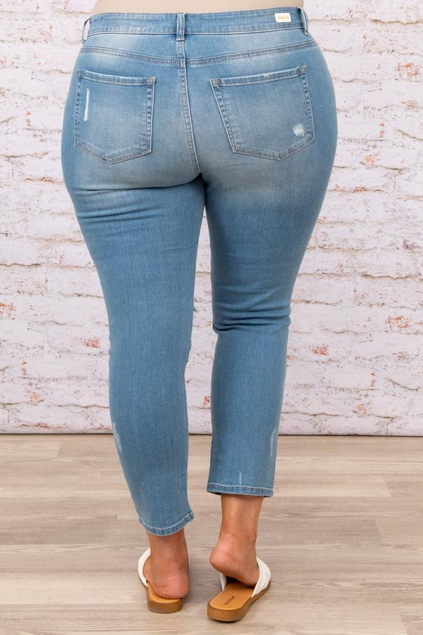 bottoms, jeans, light wash, distressed