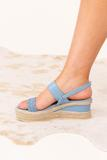 shoes, sandal, wedge, blue