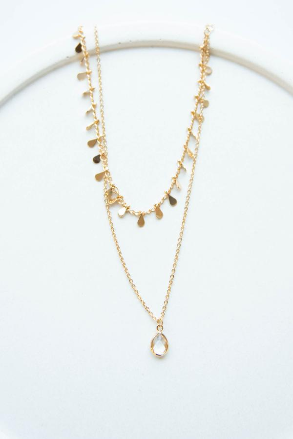 accessories, necklace, gold, layered