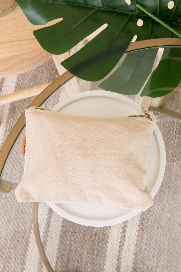 accessories, make up bag, leaf, tan