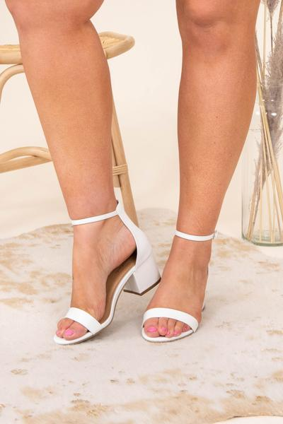 shoes, heels, white, solid