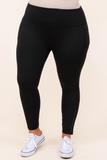 bottoms, leggings, black, solid