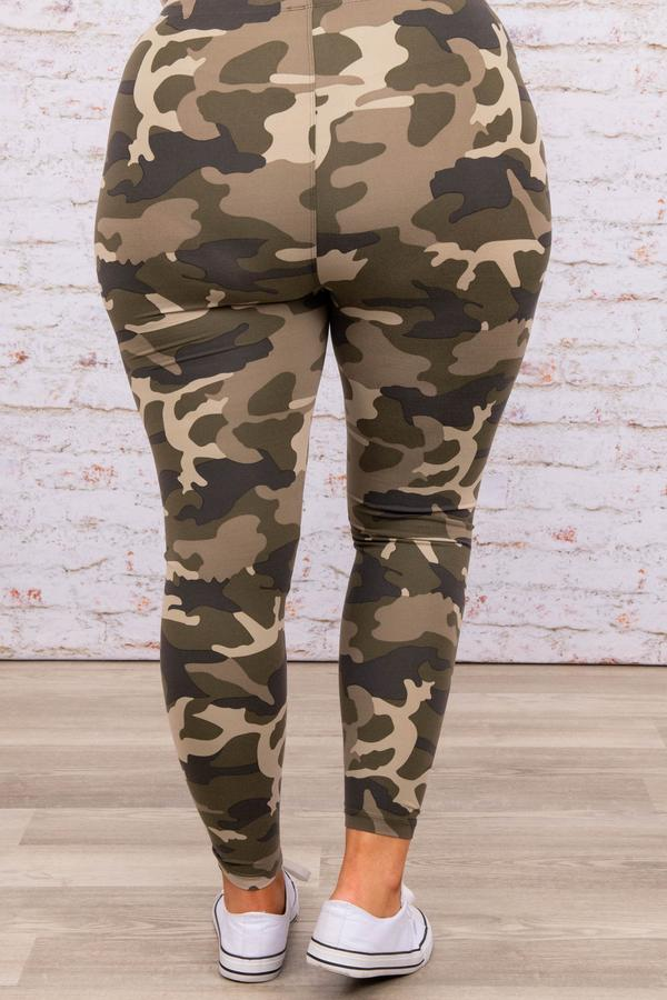 bottoms, leggings, camoflauge, brown, dusty