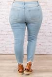 bottoms, jeans, blue, distressed, skinny, light wash