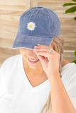 accessory, hat, denim blue, graphic, flower