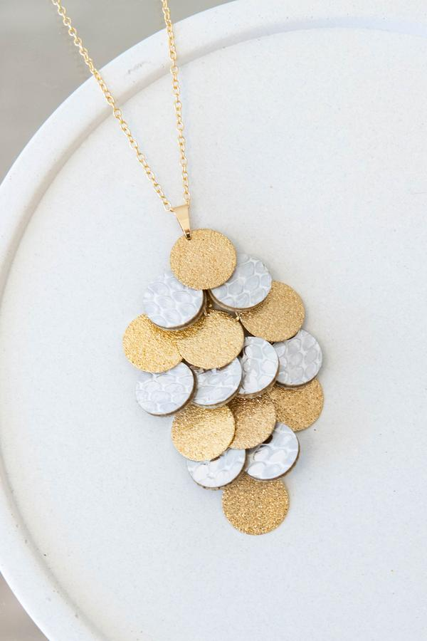 accessory, necklace, pendant, gold, solid, white