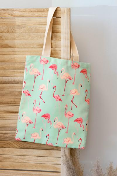 accessory, handbag, green, novelty, pink, multi, flamingo