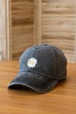 accessory, hat, black, solid, flower