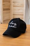 hat, accessory, embroider, black
