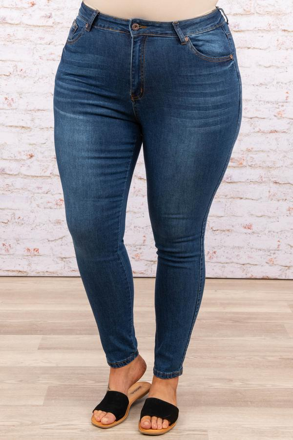 bottoms, jeggings, blue, solid, skinny, dark wash