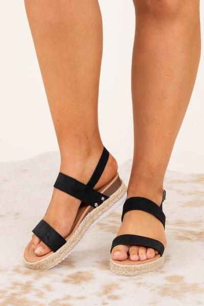 shoes, sandals, black, summer