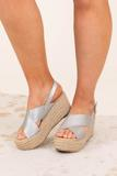 shoes, wedge, silver