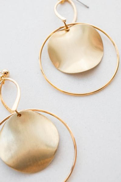 accessories, earrings, dangle, gold, solid, hoop