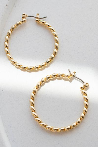 accessories, earrings, closed hoops, gold, solid