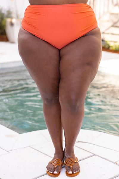 swimsuit, bottom, coral