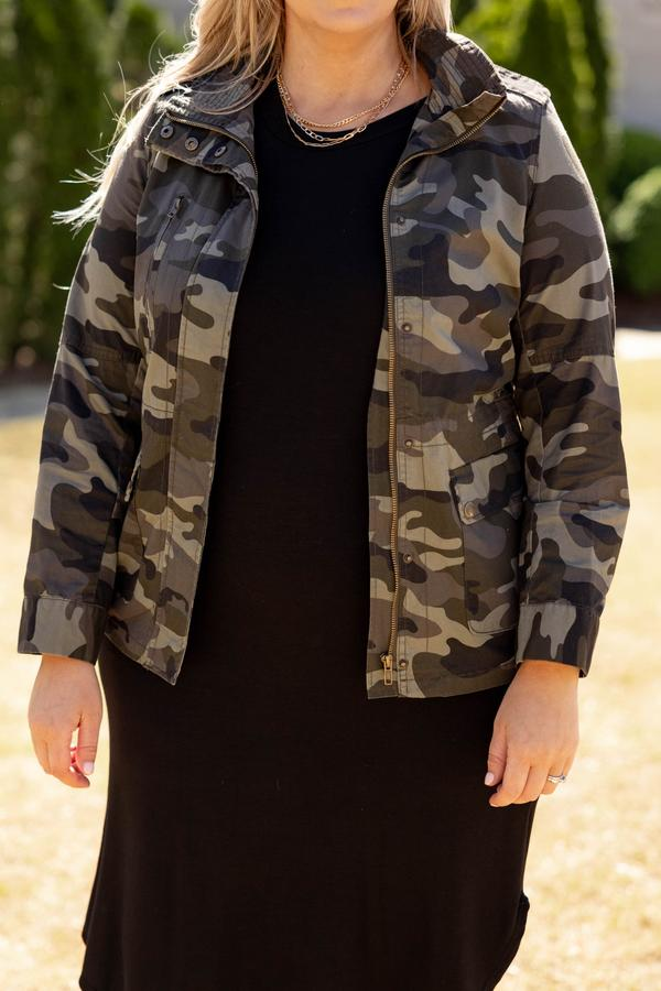 top, coat, jacket, green, camo, camoflauge, long sleeve, olive