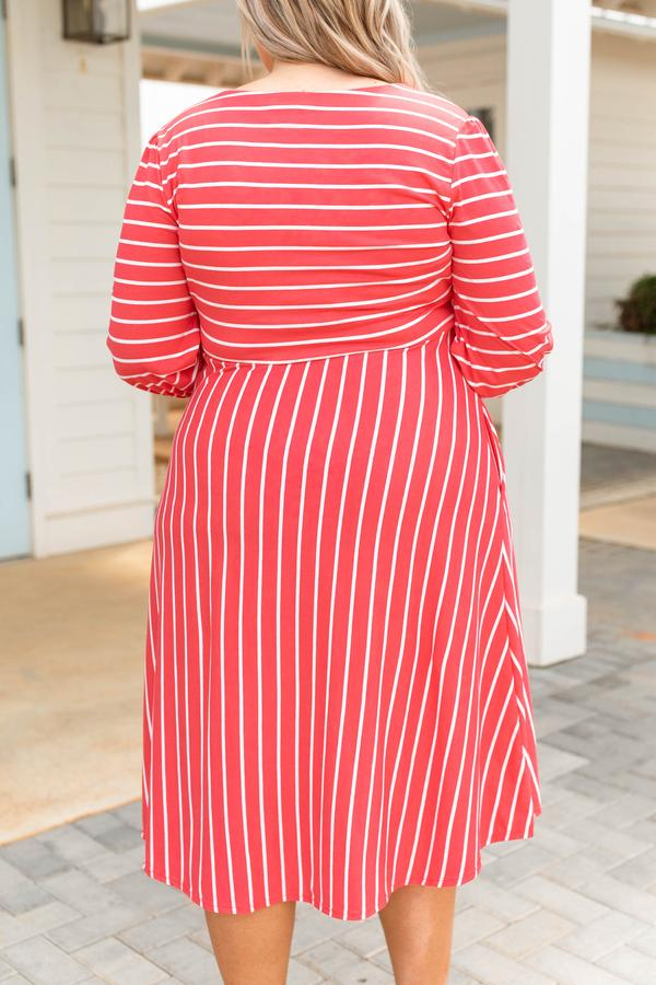 Holding Hands On The Boardwalk Dress, Coral