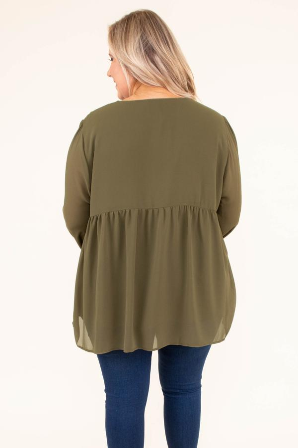 shirt, long sleeve, vneck, quarter button down, flowy, olive, embroidery, red, pink, yellow, sheer sleeves