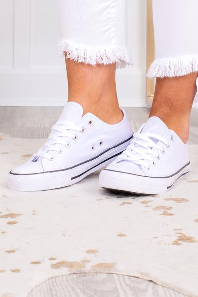 shoes, sneakers, white, black, low top, laces