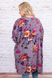 kimono, three quarter sleeve, calf length, flowy, thing, gray, floral, white, blue, black, pink, orange, comfy, outerwear, spring, summer