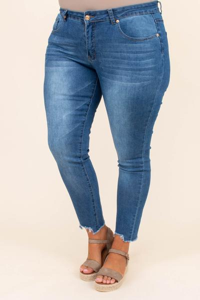 jeans, skinny jeans, frayed hem, light wash, no distressing except hem