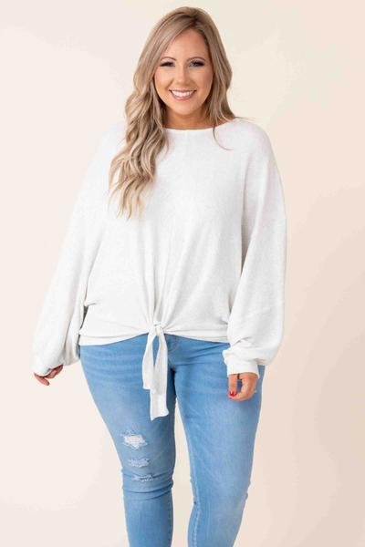 Endlessly Luxe Top, Heather Grey