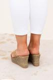 shoes, wedges, tan
